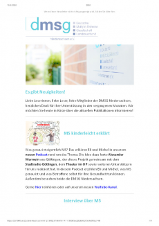 Offener Newsletter August 2020